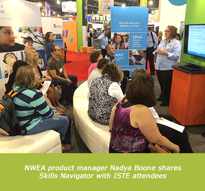 NWEA product manager Nadya Boone shares Skills Navigator with ISTE attendees