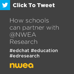 Tweet: How Schools Can Partner with @NWEA Research https://ctt.ec/jasUG+ #edchat #education #edresearch