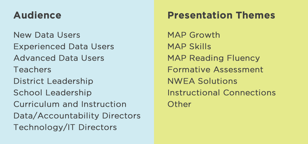 To help attendees effectively plan out their schedule, we have organized the program by audience and presentation themes.