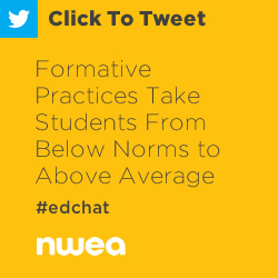 Tweet: Formative Practices Take Students From Below Norms to Above Average https://ctt.ec/eb2UU+ #edchat