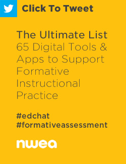 Tweet: The Ultimate List – 65 Digital Tools and Apps to Support Formative Assessment Practices https://ctt.ec/BI_28+ #edchat #formativeassessment