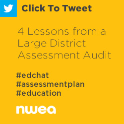 Tweet: 4 Lessons from a Large District Assessment Audit https://ctt.ec/3b3y7+ edchat #assessmentplan #education
