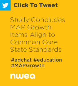 Tweet: Study Concludes MAP Growth Items Align to Common Core State Standards https://ctt.ec/6tI02+ #edchat #education #MAPGrowth