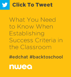 Tweet: Establishing success criteria in the classroom is a critical component of formative assessment. Here are some ideas to help you get started. https://ctt.ec/xY4iH+ #edchat #formativeassessment #education #teachers