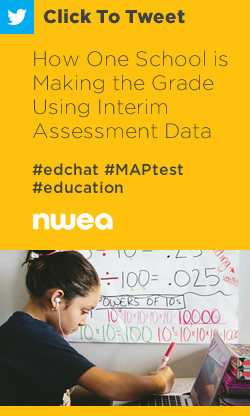 Tweet: How One School is Making the Grade Using Interim Assessment Data https://ctt.ac/k336b+ #edchat #MAPtest #education