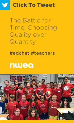 Tweet: The Battle for Time: Choosing Quality over Quantity https://ctt.ec/d7mHi+ #edchat #teachers via @NDF81