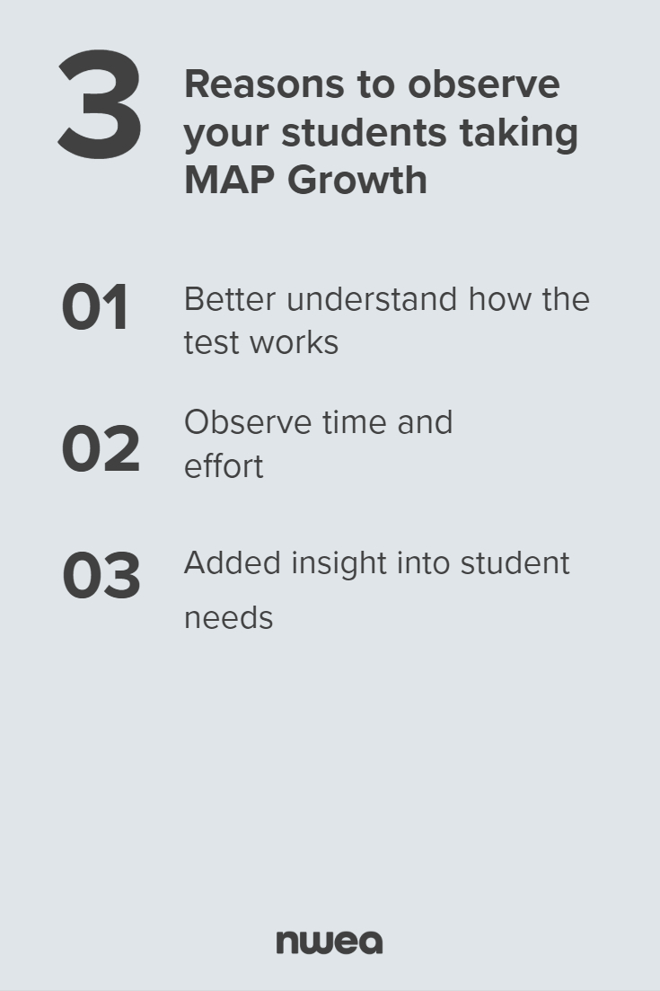 3 Reasons to Observe Your Students Taking MAP Growth - Pinterest