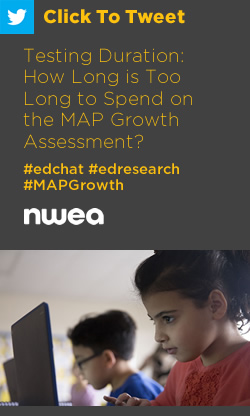 Tweet: Testing Duration: How Long is Too Long to Spend on the MAP Growth Assessment? https://ctt.ac/6Vzx8+ #edchat #edresearch #MAPGrowth