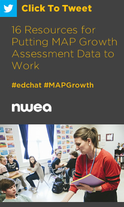 Tweet: 16 Resources for Putting MAP Growth Assessment Data to Work https://ctt.ac/o1a9O+ #edchat #MAPGrowth