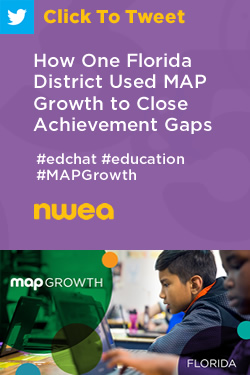 Tweet: How One Florida District Used MAP Growth to Close Achievement Gaps https://ctt.ac/l8o7L+ #edchat #education #MAPGrowth