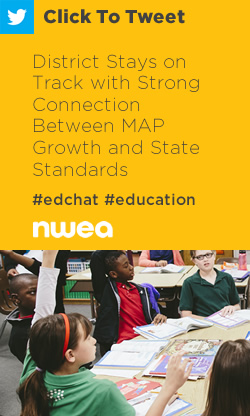 Tweet: District Stays on Track with Strong Connection Between MAP Growth and State Standards https://ctt.ec/2XRlO+ #edchat #education