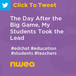 Tweet: The Day After the Big Game, My Students Took the Lead (Student-Led Conferences) https://ctt.ec/70ehn+ #edchat #education #teachers #students