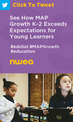 Tweet: See How MAP Growth K-2 Exceeds Expectations for Young Learners https://ctt.ec/QcwD5+ #edchat #education #MAPGrowth
