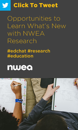 Tweet: Opportunities to Learn What's New with NWEA Research https://ctt.ec/Az819+ #edchat #education #research
