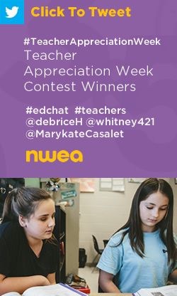 Tweet: #TeacherAppreciationWeek Contest Winners https://ctt.ec/_yaK9+ #edchat #teachers @debriceH @whitney421 @MarykateCasalet