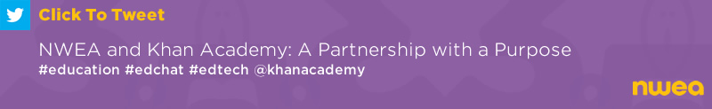 Tweet: NWEA and Khan Academy: A Partnership with a Purpose https://ctt.ec/Zy1Pc+ #education #edchat #edtech @khanacademy
