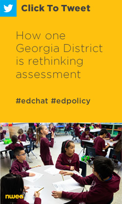 Tweet: How one Georgia District is rethinking assessment https://nwea.us/2vbuzw1 #edchat #edpolicy