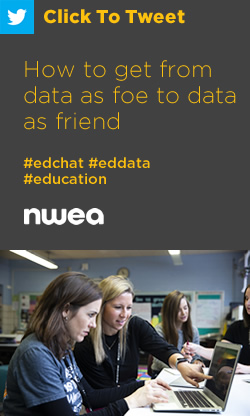 Tweet: How to get from data as foe to data as friend https://nwea.us/2x7YJ4i #edchat #eddata #education