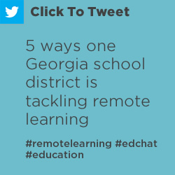 Tweet: 5 ways one Georgia school district is tackling remote https://nwea.us/3gLHU1p #remotelearning #edchat #education